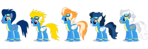 Official Wonderbolts lineup - PNG by Larsurus