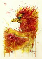 Portrait of a Phoenix (on sale) by PixieCold