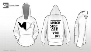 Two Sides of My Heart - My 8 Bit Challenge Hoodie by 3flyingamigos