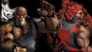 PSP wallpaper Gouken and Akuma by Dethklok91