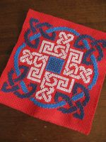 Celtic Circle Cross Stitched by LoveAmongTheRuins