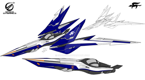 Space Dynamics FX4500 Arwing II model X with Racer by GunZcon