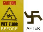 A RACIST FLOOR SIGN? by YAMS13