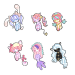 Adoptable Auction Batch 06 (CLOSED) by PixyPersephone