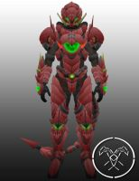 Destiny Titan Red Dragon Emperor armor by Hellmaster6492