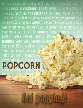 Popcorn Advertisement (for class) by FalconArte
