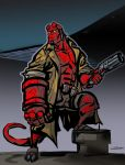 Hellboy colored by Gilmec