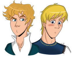 Headshots: Dyle and Xander by geekgirl8