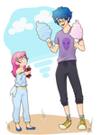 Cotton Candy Twins by k00k3y