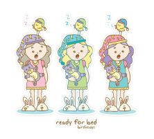 "BirdieSays ""Ready for bed"" by arwenita"