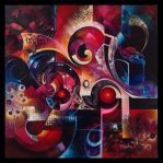 Polaris abstract painting by Amytea
