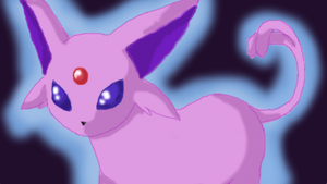 Espeon doodle by nya-nannu