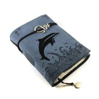 Dolphhin, leather journal by kreativlink