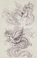 Sealestia sketches by KP-ShadowSquirrel