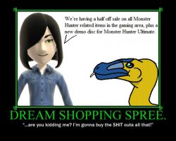 Dream Shopping Spree. by TheArchosaurQueen