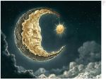 Moon and Sun by Papierpilot