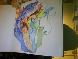 the 4 elements hands by Moon-Shatte