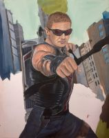 Avengers Hawkeye by solisthe1