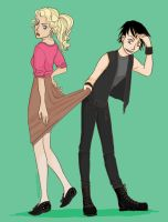 Peeping Percabeth by Vandenpoel