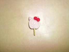 Hello Kitty Lollipop clay charm by Baby-SmileyFace