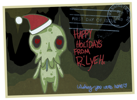 Happy Holidays from R'Lyeh by ShadowStarry