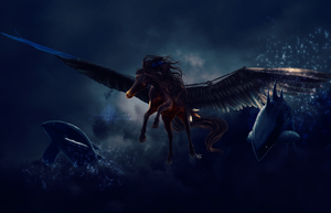 flight of the starwhales by littlewillow-art