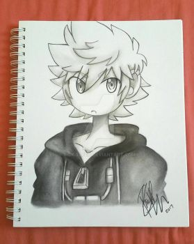 Roxas Charcoal Doodle by Rick-Elfen