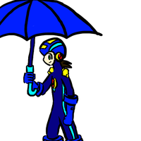 Megaman with an umbrella by catlover1672