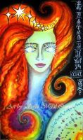 Mistress Sun with flashy eyes and red hair by SOFIAMETALQUEEN