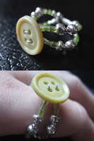 Crafted Button Ring by sampdesigns