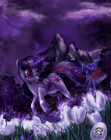 Twilight flowers by Miradge