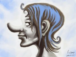 17 long nose lady by foice