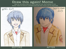 Before and After - Hinata(Angel Beats!) by Trixi99