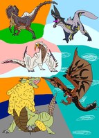 Those awesome five Monsters by MousingRat