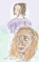 Ladies of Les Mis - Eponine and Cosette by TheRandomPhangirl