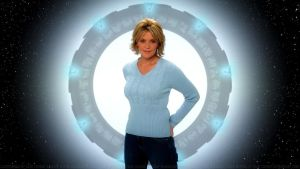 Amanda Tapping Portrait III by Dave-Daring