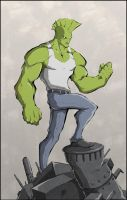 Savage Dragon color by Anny-D