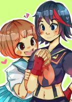 Mako and Ryuko by the-secondstar