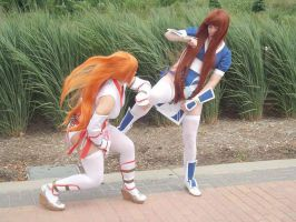 PLayer one and player two fight by lilburi4ever