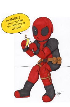Deadpool and this Dolls by Teaganofthetrees