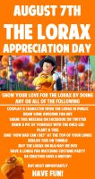The Lorax Appreciation Day August 7th by StrawberrySoulReaper