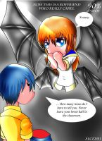 Manananggal HS girl with her BF by alceoftheart