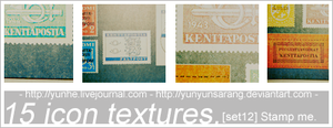 "15 icon textures ""Stamp me"" by yunyunsarang"