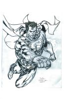Guile's Superman WIP Inked by FanBoy67
