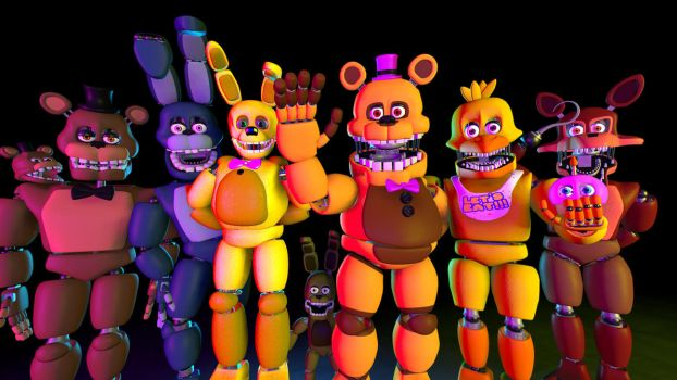Fredbear And Friends by TheFuckingPuppet