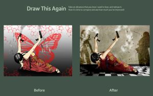 Draw this again Contest - Ada Wong by Qsec