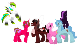 My Mane Six by AmzyTheChangeling