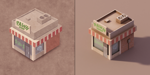 Pawn Shop Concept and Render by wrinkledlight