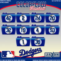 Colorflow Dodgers Numbers by JayJaxon