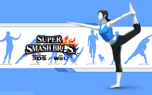 Wii Fit T. Wallpaper - Super Smash Bros. Wii U/3DS by AlexTHF